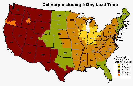 Expected Delivery Times
