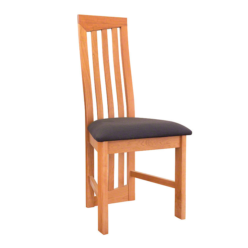 Modern High Back Cherry Dining Chair - In Stock