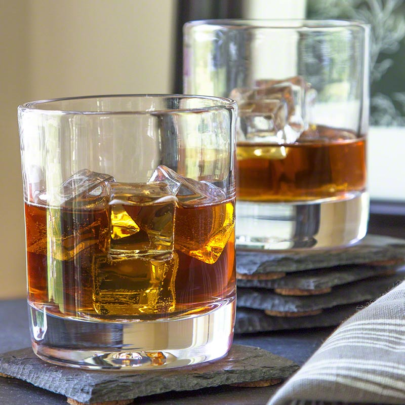 Ascutney Double Old Fashioned Glass Vermont Woods Studios
