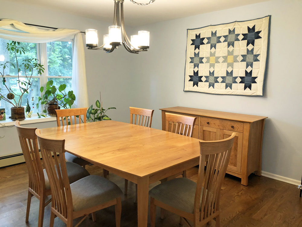 Cherry Dining Table & Chairs Set - Customer Review