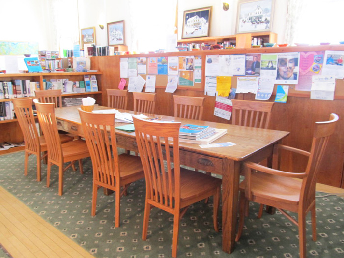 Review of Shaker Chairs | New Canaan Town Library | Vermont Woods Studios